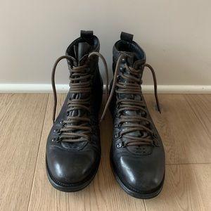 Men's Hudson leather lace up boots